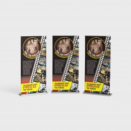 850x2000 Roller Banner Full Colour Single Sided