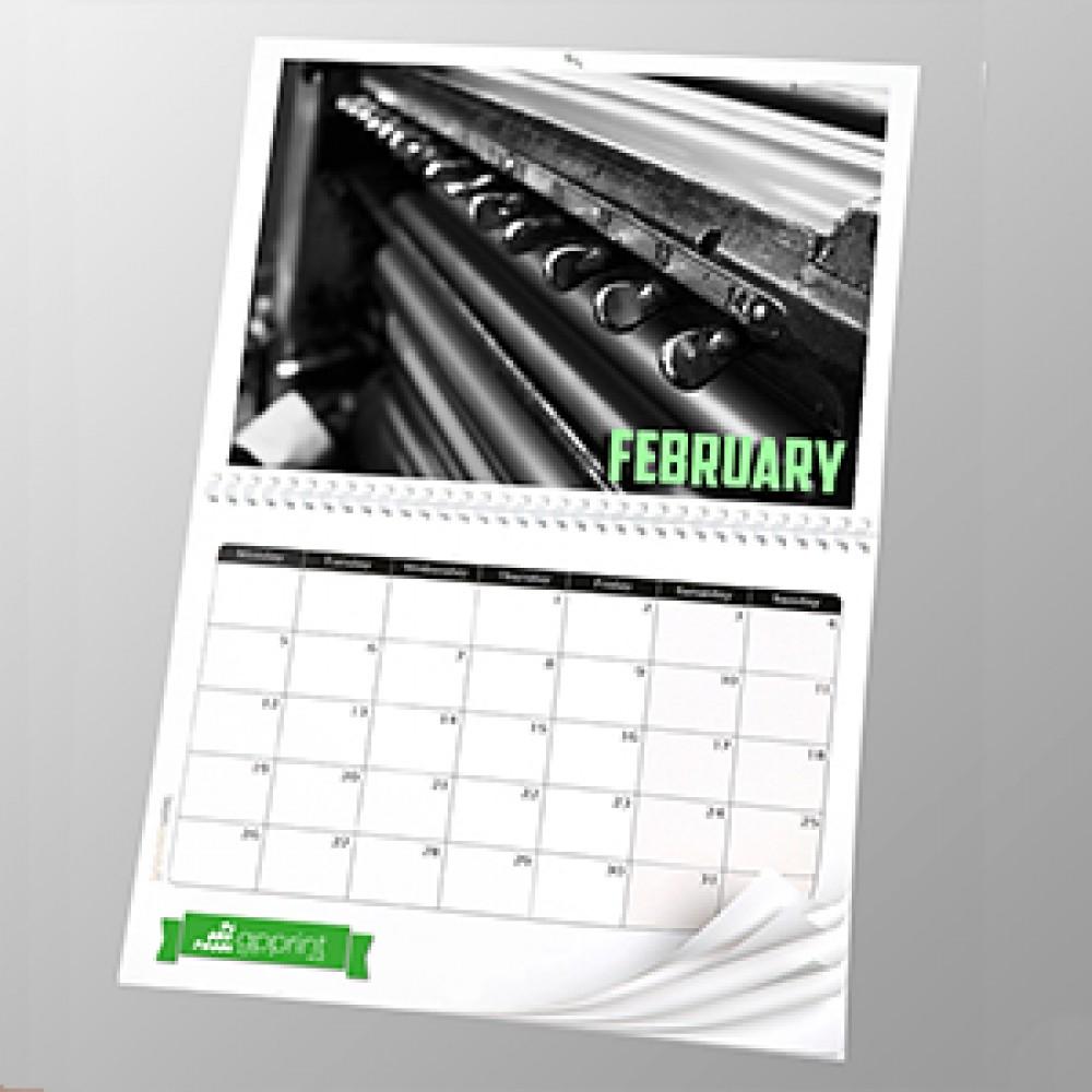 a3 13 page calendar 200silk full colour single sided