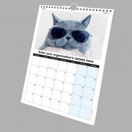 A4 13 Page Calendar 200Silk Full Colour Single Sided