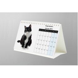 A5 26 Page Desk Calendar 200Silk Full Colour Double Sided